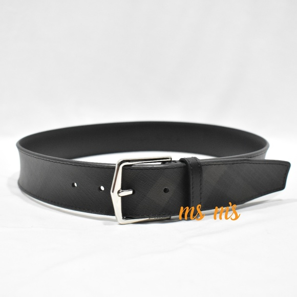 Burberry Other - NWOT Burberry JOE CHECK leather BELT Size 32in
